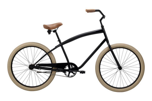 Pure Cycles | Classic Beach Cruiser | Single Speed | 2019 | Brewster - Black