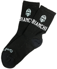 "Bianchi | 5"" Cuff Team Black Cycling Socks 