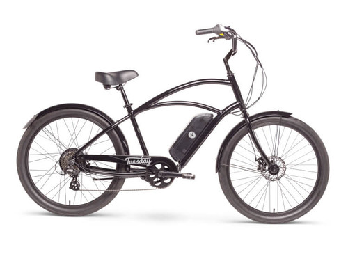 Tuesday | August Live! (E-bike) | Mens Electric Cruiser Bike | 2019 | Black