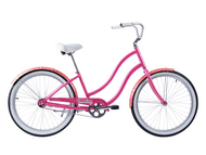 Tuesday | August 1 LS Dots | Womens Cruiser | 2019 | Bright Rose Pink
