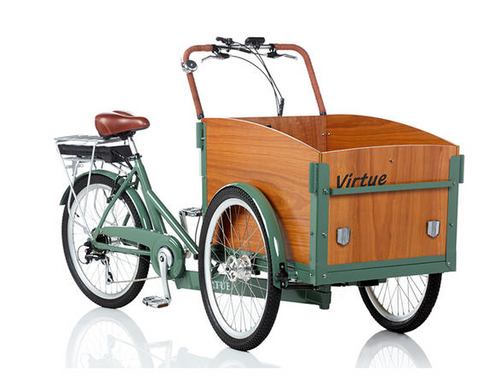 Virtue Electric Schoolbus + Cargo Box Bike | Atlantis Green 6