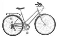 Biria | Citi Classic ST e8 | Hybrid Bike | 2019 | Nickel Silver
