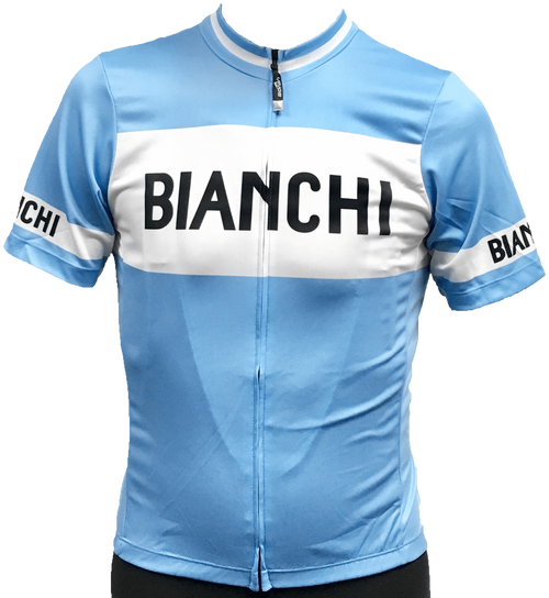 Bianchi | Eroica Full Zip Blue / White Jersey | Apparel | 2019