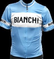 Bianchi | Eroica Full Zip Blue / White Jersey | Apparel | 2019