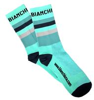 Bianchi | Celeste Striped Bianchi Socks | Apparel | 2019 | Celeste