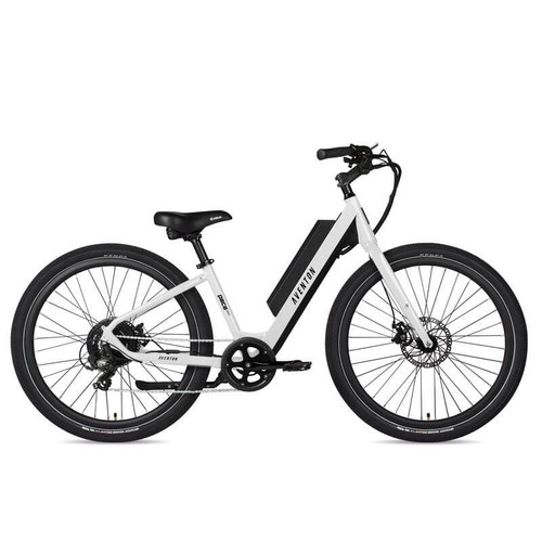 Aventon Electric | Pace 350 Step-Through | Electric City Bike | 2019 | White