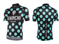 Bianchi Milano by Nalini | Pride Short Sleeve Jersey | Men's | 2019 | Black Polkadot