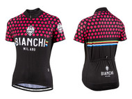 Bianchi Milano by Nalini | Crosia Lady Short sleeve Jersey | 2019 | Black/Fuschia