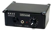Whirlwind HAUC - This stereo, active, compact headphone amplifier mounts under a table or counter and provides headphone volume control for broadcast applications, recording studios, language labs, etc.