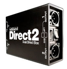 Whirlwind DIRECT2 - This combines features found on two of our DIRECTOR ® direct boxes in one unit. Perfect for converting unbalanced signals from stereo keyboards, acoustic guitar preamps, CD and tape players, computer sound cards, etc.