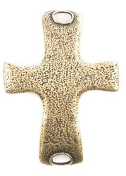 Lenny and Eva Large Cross Pendant - Brass