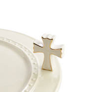 Nora Fleming White Cross Mini  On Back Order   Expected Late May