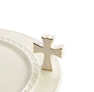 Nora Fleming White Cross Mini