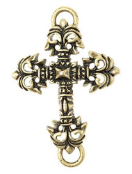 Lenny and Eva Cross #2 Pendant - Brass