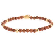 Lenny and Eva Refined Beaded Bracelet - Brown Goldstone