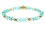 Lenny and Eva Refined Beaded Bracelet - Light Aqua