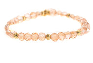 Lenny and Eva Refined Beaded Bracelet - Light Pink