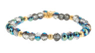 Lenny and Eva Refined Beaded Bracelet - Silver Blue