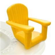 Nora Fleming Yellow Chillin' Beach Chair mini