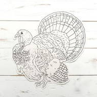 Hester and Cook - Coloring Turkey Die-Cut Paper Placemat Sheets