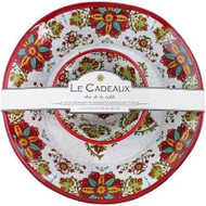 Le Cadeaux Allegra Red Chip & Dip Set