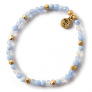 Lenny and Eva Blue Lace Agate Gemstone Bracelet, 4mm