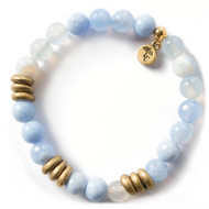 Lenny and Eva Blue Lace Agate Gemstone Bracelet, 8mm