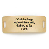 """Lenny and Eva Essential Sentiment """"Of all the things my hands have held, the best by far is you"""""""