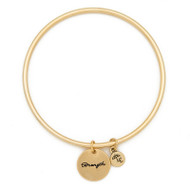 "Lenny & Eva Token Bangle Bracelet, ""Strength"""