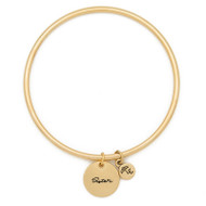 "Lenny and Eva Token Bangle Bracelet, ""Sister"""