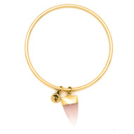 Lenny and Eva Rose Quartz Arrow Bangle Bracelet