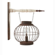 Wire Lantern With Vintage LED Bulb Arrow Replacement
