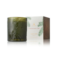 Frasier Fir Molded Green Glass Poured Candle 6.5oz  Available Now