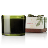 Frasier Fir 3-Wick Poured Candle Green Glass 17 oz