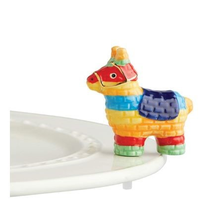 "Nora Fleming's New ""Party Animal"" mini piñata is adorably festive for Cinco de Mayo and any time of the year for any Nora Fleming serving piece or platter."