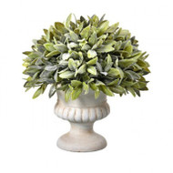 "Potted Flocked Sage Dome Topiary, 9"" Artificial"