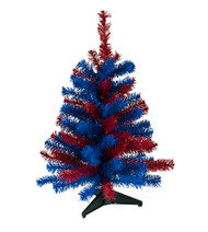 "24"" TEAM COLORED SPORTS TREE - RED AND BLUE"