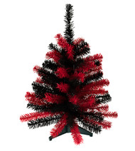 "24"" TEAM COLORED SPORTS TREE - Red and Black"