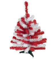 "24"" TEAM COLORED SPORTS TREE - Red and White"