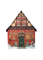 Byer's Choice Christmas House Advent Calendar Box