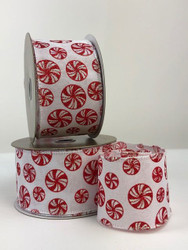 "Candy Cane 2.5"" Linen Ribbon & Bows"
