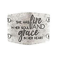 Large Sentiment: She has fire in her soul..Antiq Silver