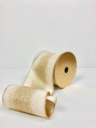 "Platinum Glitter Dust 4""   Ribbon & Bows"