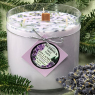 Bedrock Tree Farm 32oz. Lavender  Fir Needle Soy Candle Vase