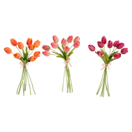 Real Touch Tulip Bundles  - 27 Tulips  3 assorted colors