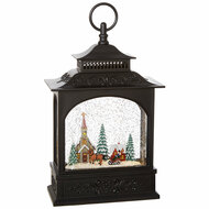 "11"" Town Scene Musical Lighted Water Lantern   Pre-Order   Available Oct 1"