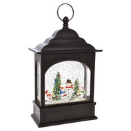 "11"" Snowman Caroler Lighted Musical Water Lantern"