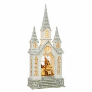 "16"" Nativity Church Water Lantern"