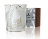 Frasier Fir Statement Votive Candle Silver Pine Needle design 2oz
