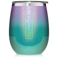 Brumate UNCORK'D XL Wine Tumbler  Glitter Mermaid Ombré  14oz